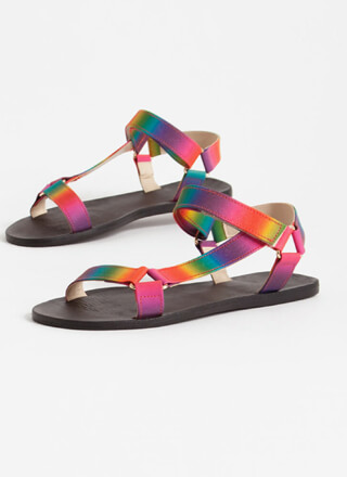 Rainbow Days Ombre Harness Sandals