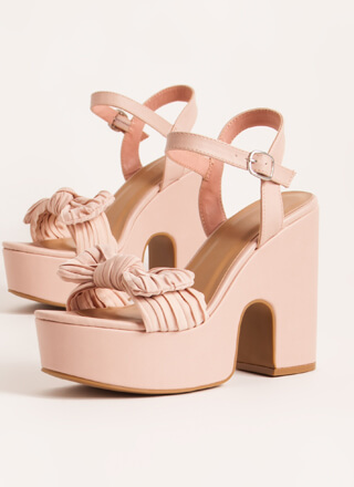 Bow Out On A High Super Chunky Platforms