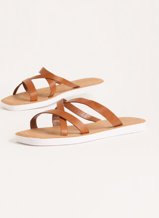 Every Which Way Strappy Slide Sandals