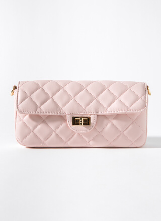 Classy Lady Quilted Baguette Bag