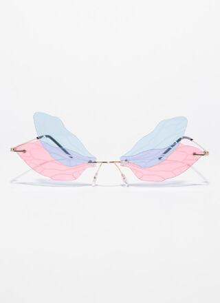 Spread Your Wings Veined Sunglasses