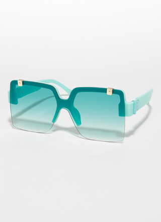 Flip-Up To You Square Sunglasses