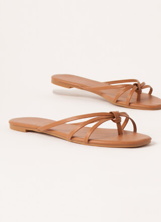 Knot Flip-Flops Strappy Thong Sandals