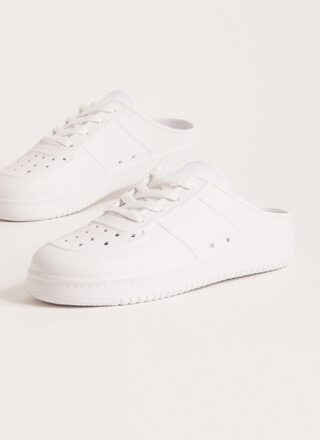 Easy Win Perforated PVC Slip-On Sneakers