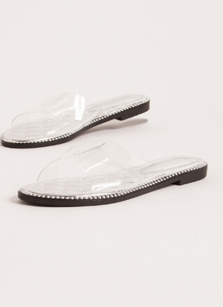 Clear My Head Quilted Studded Sandals