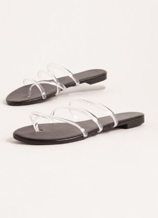 Funday Clear Jelly Strap Sandals