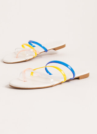 Funday Multi-Color Jelly Strap Sandals