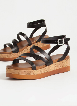Strappy To Be Here Platform Sandals