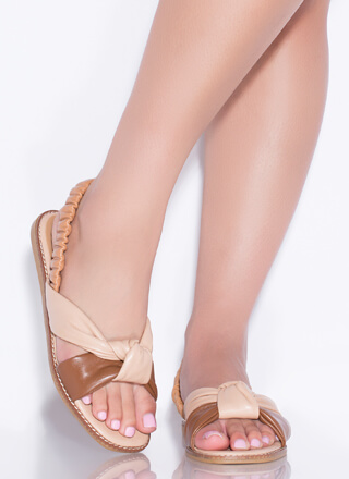 Knot Staying Home Tri-Color Sandals