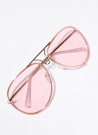 Down To The Wire Aviator Sunglasses