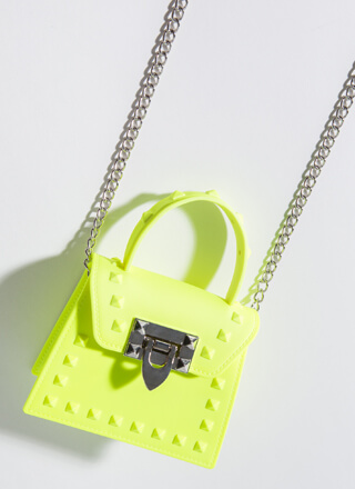 Neon Sign Studded Jelly Micro Purse
