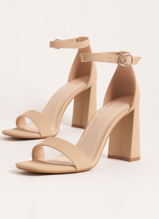 Just Right Chunky Faux Nubuck Heels