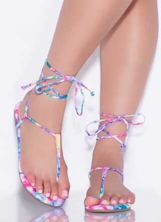 Fits Me To A T-Strap Lace-Up Sandals