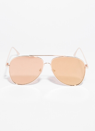Fly With Me Aviator Sunglasses