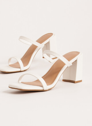 It Takes Two Faux Leather Block Heels