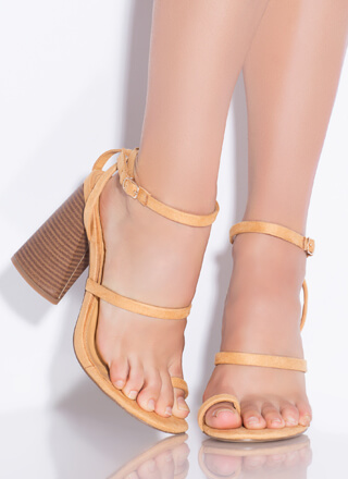 Put A Ring On It Chunky Toe Strap Heels