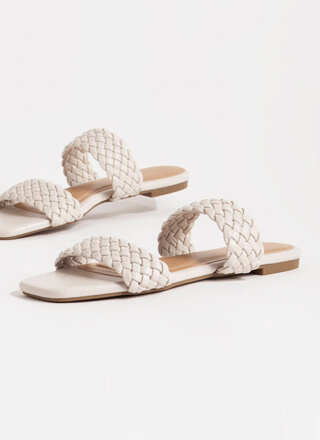 Cool Down Woven Strap Slide Sandals