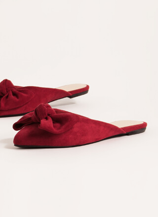Wrapped With A Bow Pointy Mule Flats