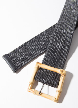 Out Of Stalk Woven Bamboo Buckle Belt