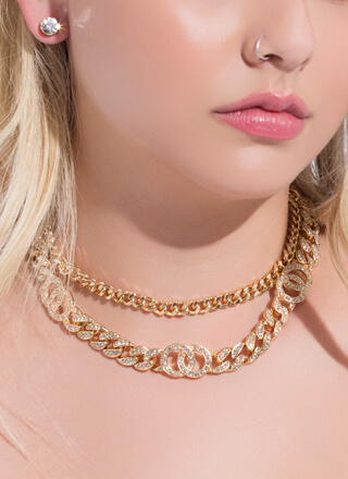 We're Linked Jewel Chain Necklace Set