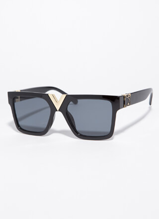 V Your Own Person Squared Sunglasses