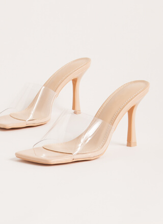 Transparency Clear Illusion Mule Heels