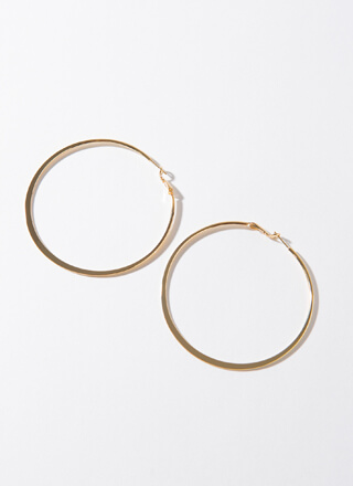 Big Impact Oversized Gold-Dipped Hoops