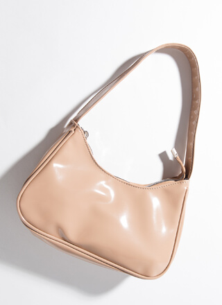 Always On The Go Faux Patent Purse