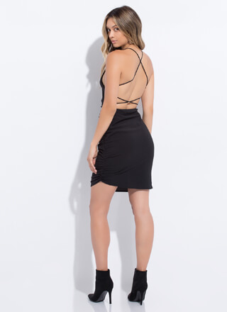Pull Strings Strappy Open-Back Dress