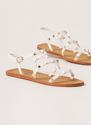 Finishing Touch Studded Caged Sandals