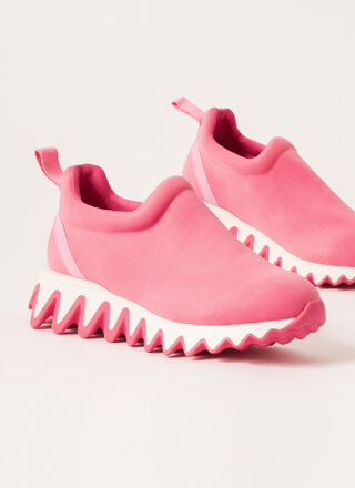 Show Your Teeth Jagged Platform Sneakers