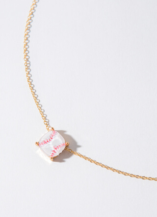 Step Up To The Plate Baseball Necklace