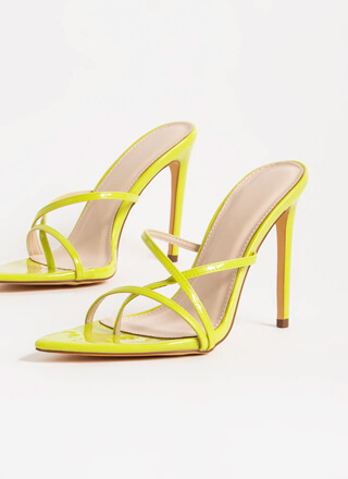 Stepping Out Strappy Stiletto Heels