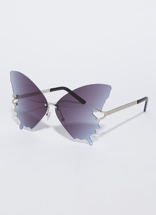 Butterfly Drip Winged Sunglasses
