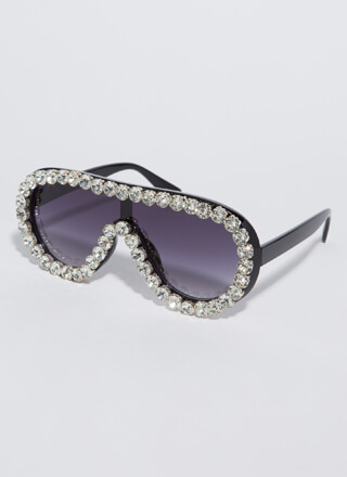 Bling Out The Jeweled Goggle Sunglasses