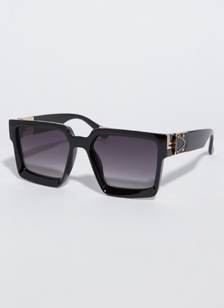 Squared Off Thick-Rimmed Sunglasses