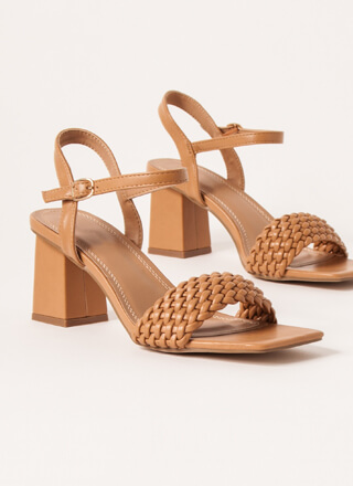 Out And About Braided Block Heels