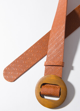 Give Me Texture Round Buckle Belt