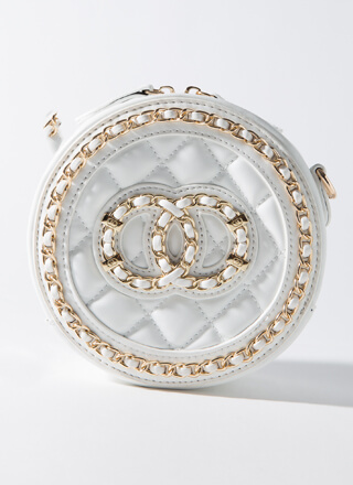Round And Round Quilted Ringed Bag