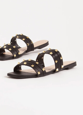 Edgy Everything Studded Slide Sandals