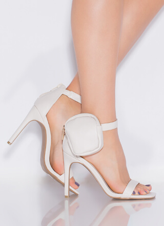 Carry On Pouch Accent Strappy Heels