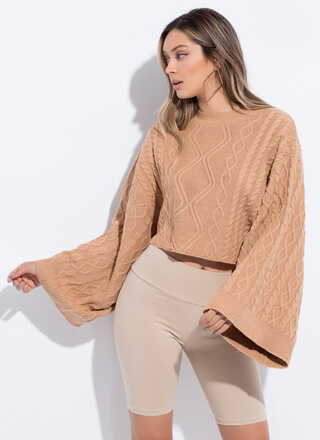 Wing Woman Flared Sleeve Knit Sweater