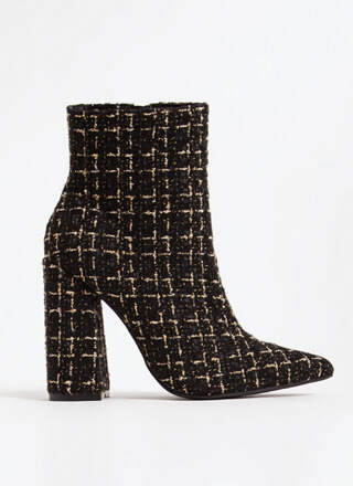 Point Person Chunky Tweed Booties