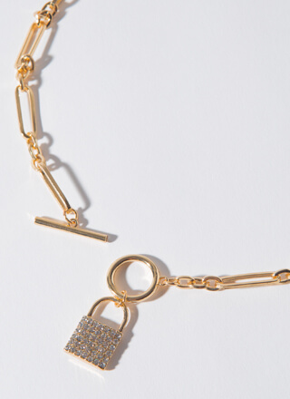 Best Of Lock Toggle Chain Necklace