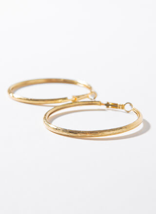 Brush With Fate Mid-Sized Hoop Earrings