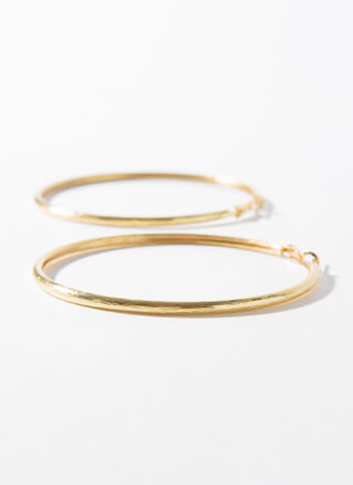 Brush With Fate Oversized Hoop Earrings