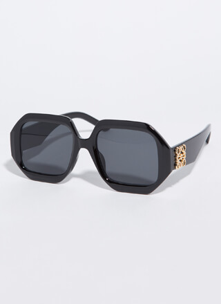 Symbol-Eyes Thick-Rimmed Sunglasses