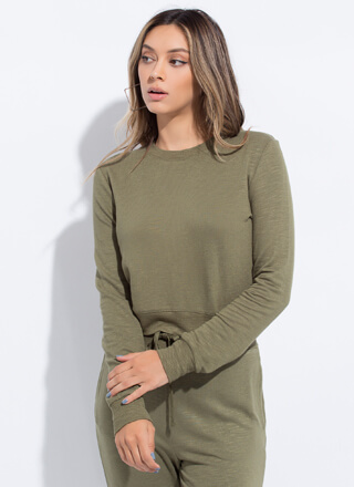Work From Home Long-Sleeved Top