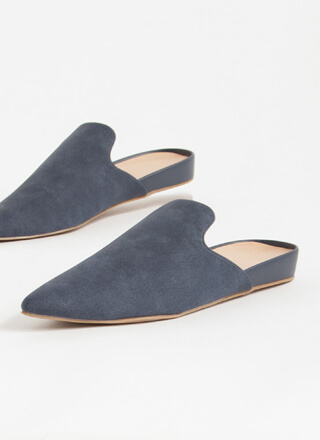 The Simple Life Pointy Mule Flats