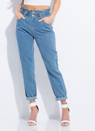 Paper-Bag Of Tricks Frilly Waist Jeans